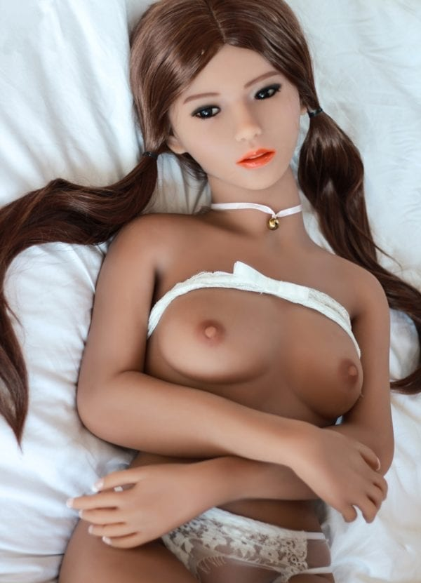 4.6ft TPE Realistic Cute Sexy A-cup Breast Girl Men Lifelike Sex Doll Male Love Toy Adult Masturbation