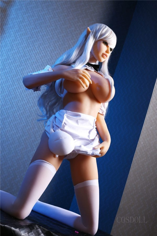 4.27ft Ultra Realistic Big Boob Sexy Girl With Elf Ears TPE Men Sex Doll Lifelike Adult Male Love Toy Masturbation SKU:130-01